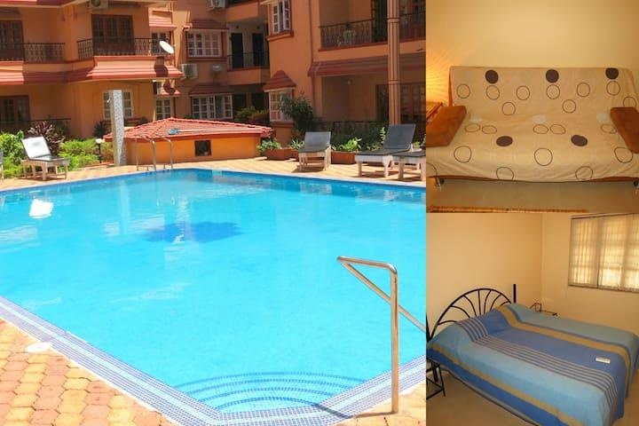 42) Calangute/Baga Serviced Apartment  Sleeps 2/4