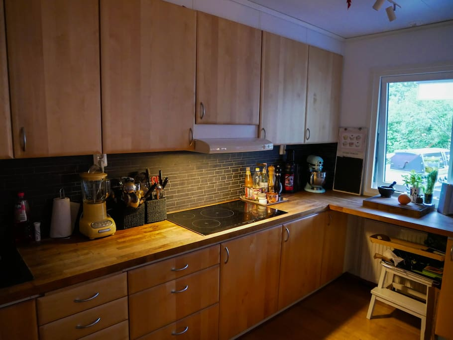 Fully equiped kitchen with dishwasher, oven, combi oven with heat, micro and steam, food processor and much more.