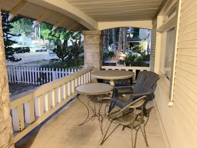 Front porch is welcome for everyone.