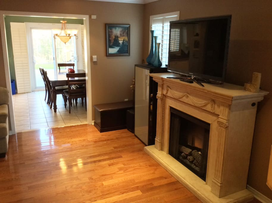 Family room into Kitchen