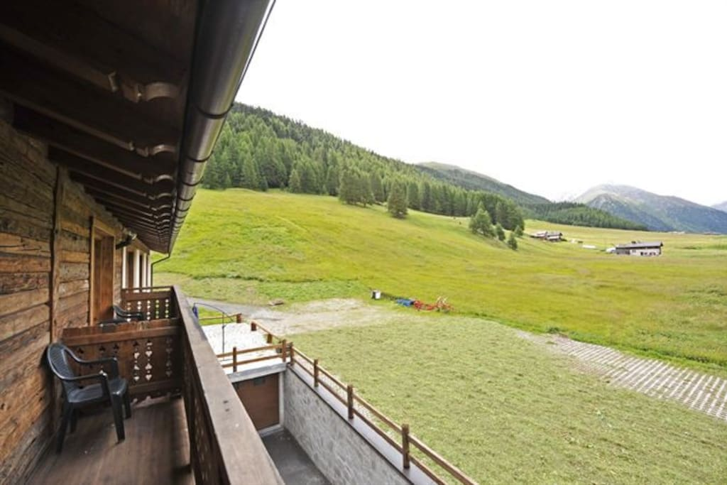 View from private balcony