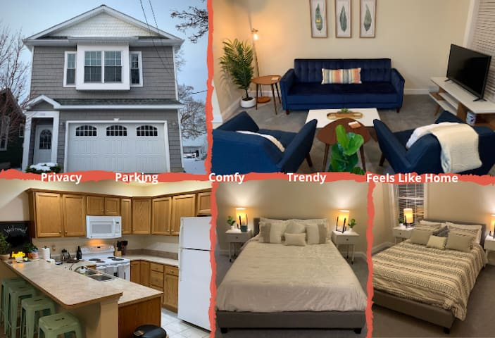 Bay View Apartment & Garage | Trendy & Comfy