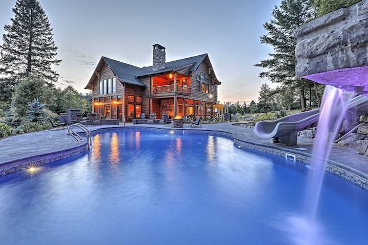 Luxury Lake Placid Home w/ Pool & Mountain Views!