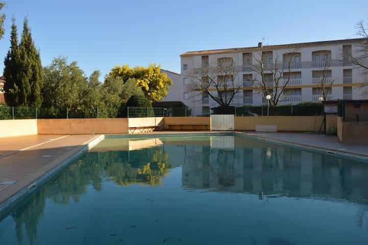 Spacieux T2 avec piscine à Argeles sur mer