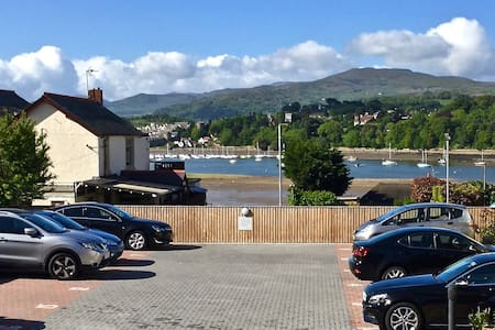 Entire apartment:  views to Conwy Estuary & Hills