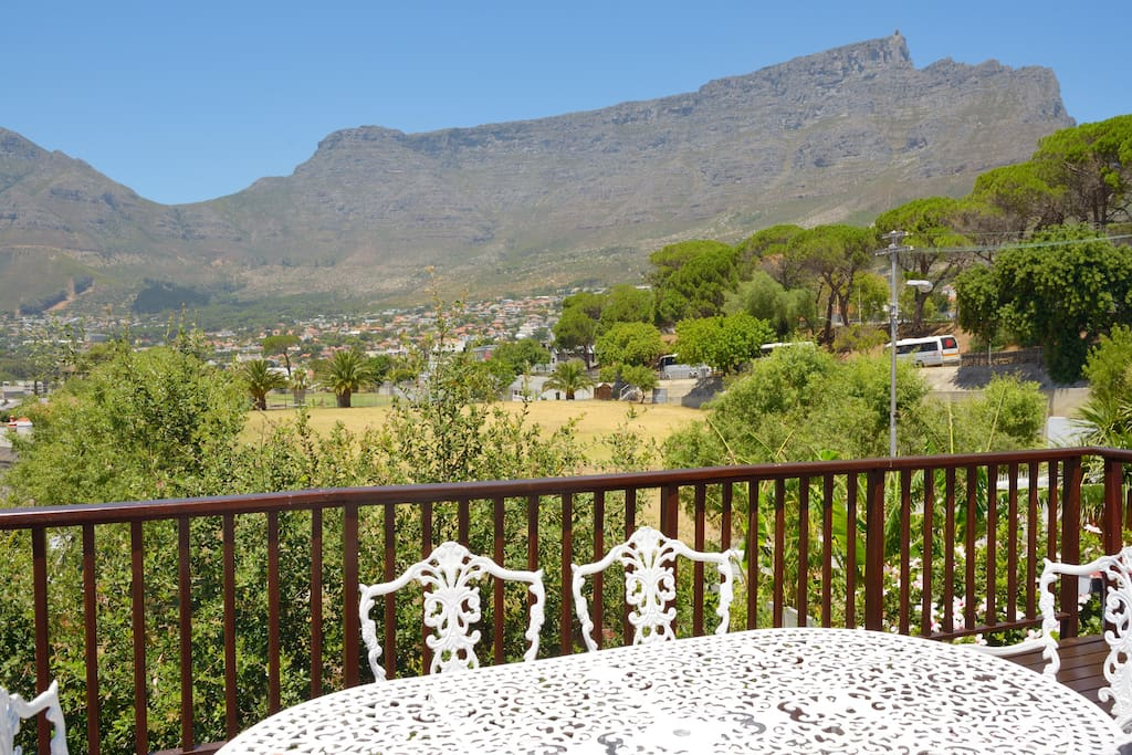View of Table Mountain from the entertainment  deck.