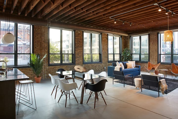 Huge open living areas are great for groups