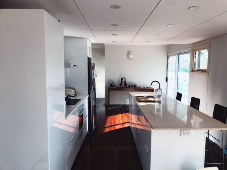 Renovated kitchen, beach views