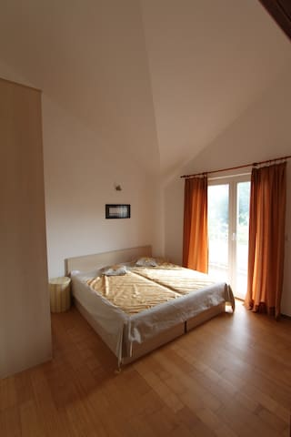Bedroom 2 - can be used as 2 single or 1 double bed, private balcony