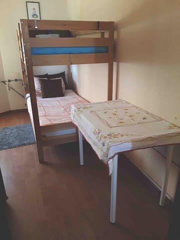 Cozy room with bunk
