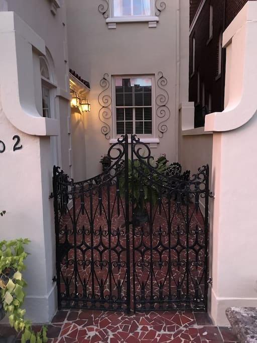 Charming courtyard entrance