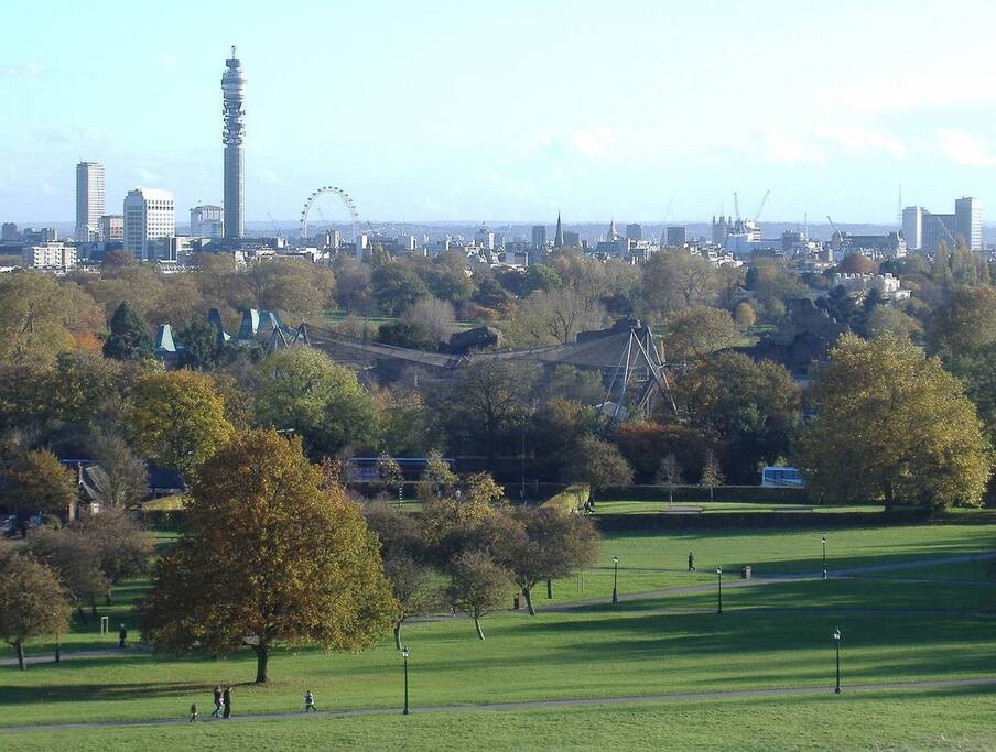 Primrose Hill park just a few meters away