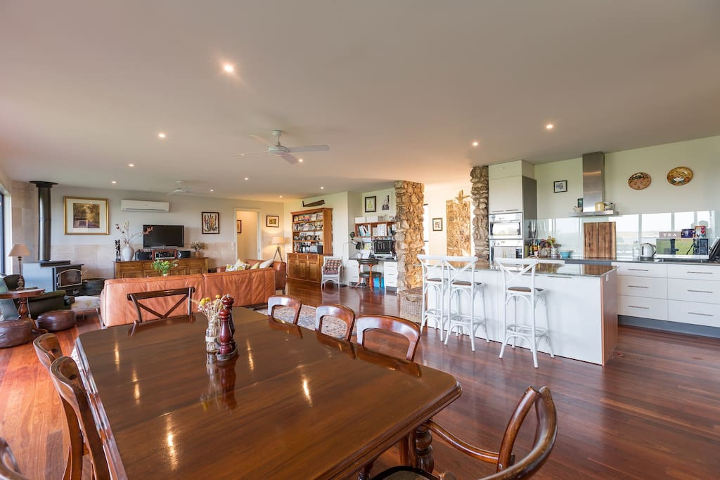 Fabulous kitchen space, huge dining and lounge areas all overlooking the grounds, paddock and Lough.