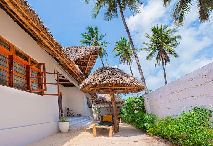 Villa under the palm trees