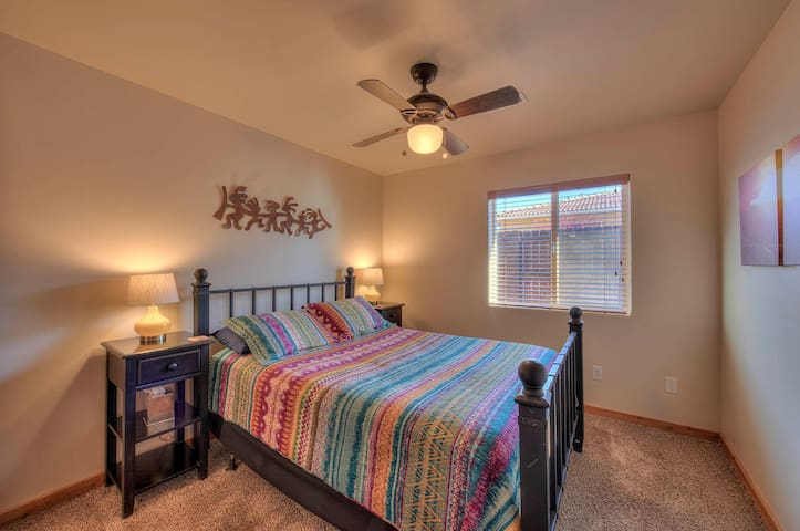 Queen bedroom with large closet