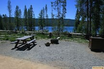 Campsites at Point Campground at Red Fish Lake