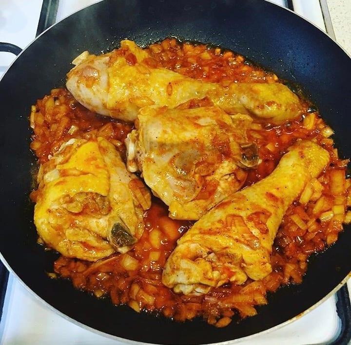 Chicken paprikásh
