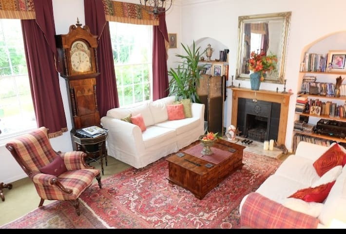 Period Georgian sitting room with many original features.  Lovely views over the Staffordshire and Worcestershire Canal.