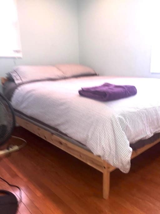 Bed with New High End Beauty Rest Mattress