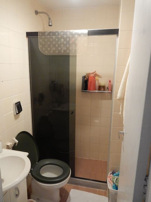 MAIN BATHROOM WITH HEATER.