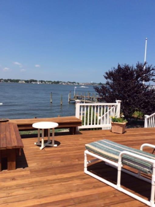 Check out this beautiful vew from lower deck