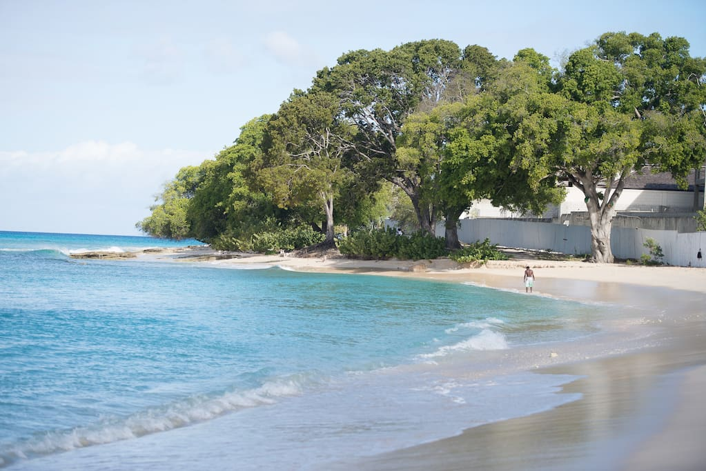The Beach to the left of Paradise Beach Cottage.