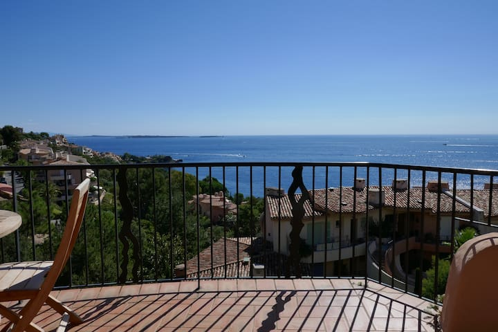 Large seafront apartement near Cannes