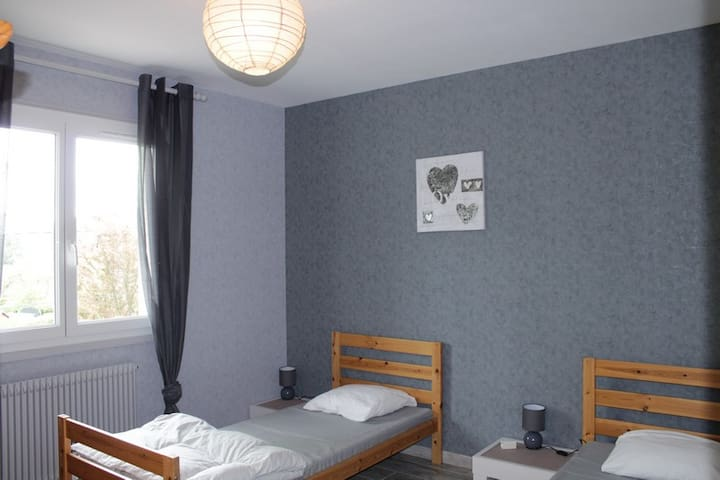 Chambre N=° 2 (2 lits simples )