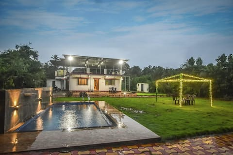EKOSTAY | Panorama Villa- 2BHK with Private Pool