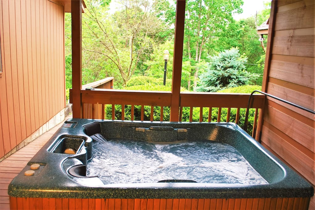 Relax and have a soak in our private hot tub.