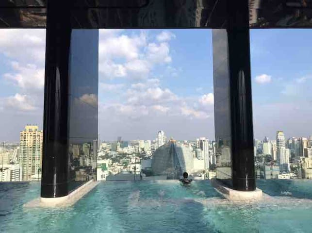 One part of our panoramic swimming pools and jacuzzi.