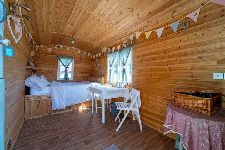 Unique Retreat in Shepherd Huts Overlooking the Water