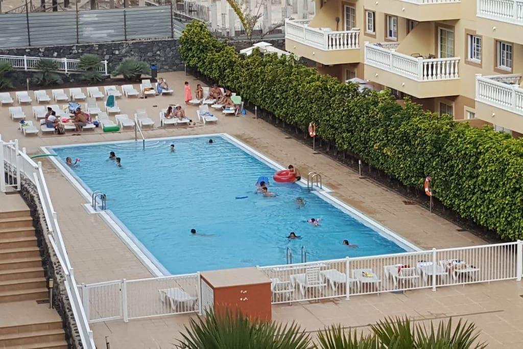 piscina vista desde terraza
