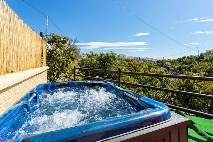 Dog-friendly villa w/ private hot tub, spacious terrace, & bright interior!