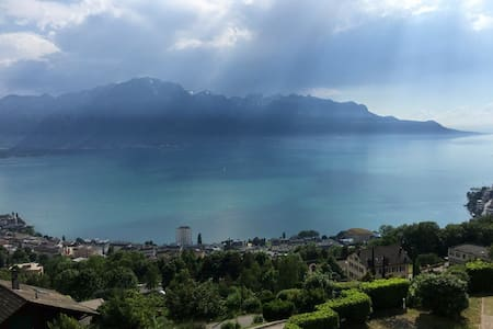 Swiss Hill Panorama (Netflix and Air Conditioner) - Montreux - Apartemen
