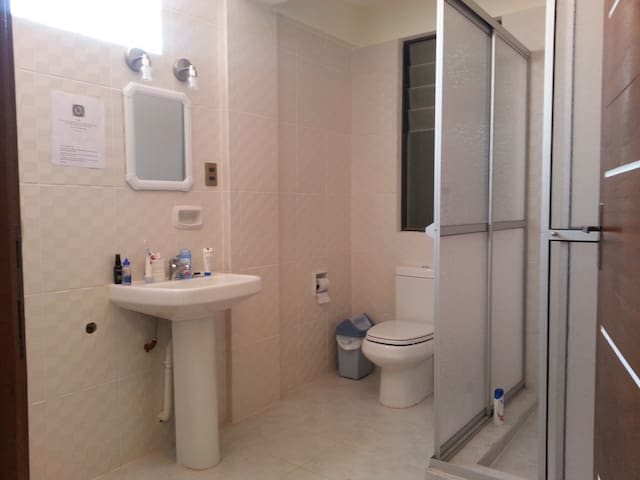 New and very clean bathroom.