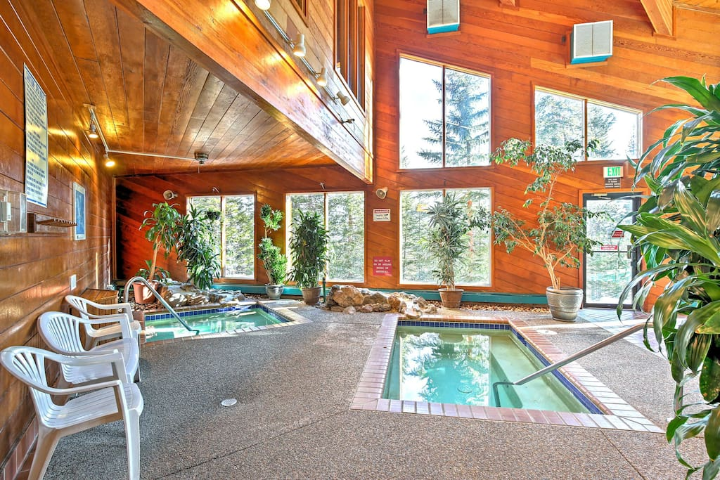 Enjoy access to amazing community amenities, like these 2 indoor hot tubs.