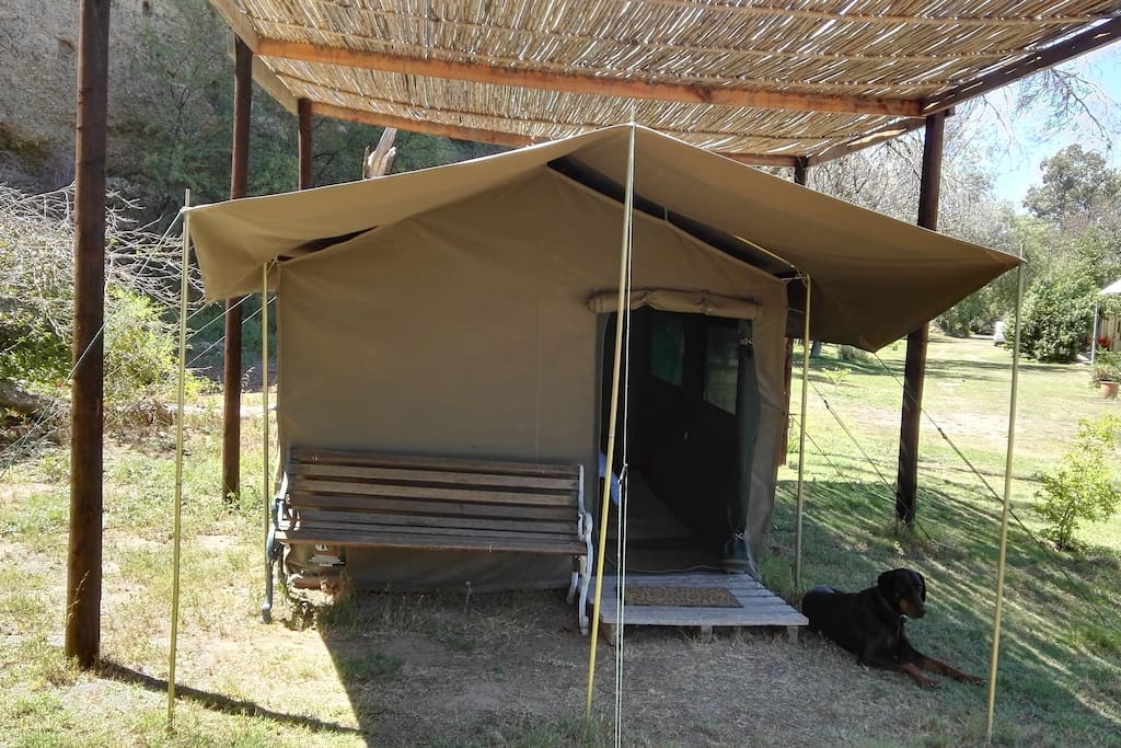 One  tent with two single beds