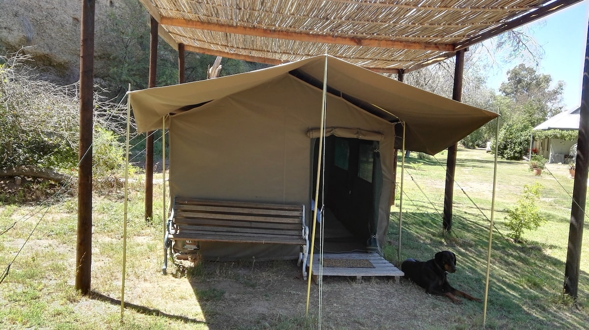 Calitzdorp Railway Station - Safari Tent no. 1 - Tents for Rent in Calitzdorp Western Cape South Africa & Calitzdorp Railway Station - Safari Tent no. 1 - Tents for Rent in ...