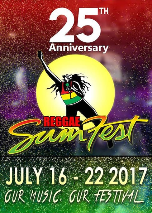 JUST Minutes away from the REGGAE SUMFEST VENUE...