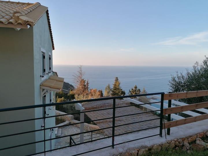 Villa ioli at the sea breathtaking view & sunset
