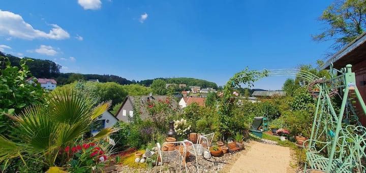 Ferienhaus, riesen Garten am Wald, toller Ausblick