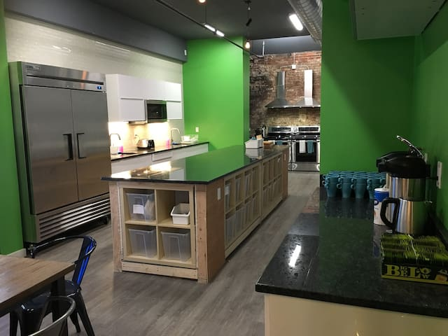 Large kitchen with everything you cold possibly need to prepare meals
