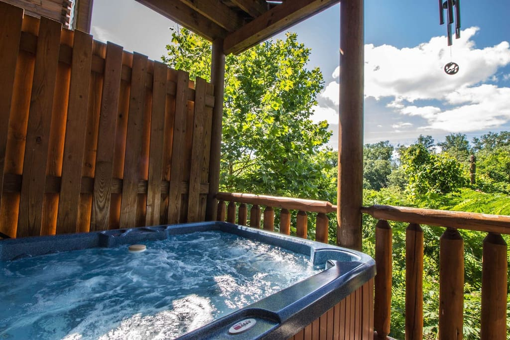 Relax and Unwind in the Hot Tub  after a long day of activities in the Smoky Mountains - Pigeon Forge and Gatlinburg