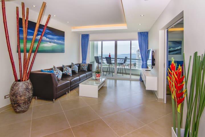 Designer Meeresblick 3-Zimmer-Wohnung an Top-Lage - Muang Pattaya - Timeshare