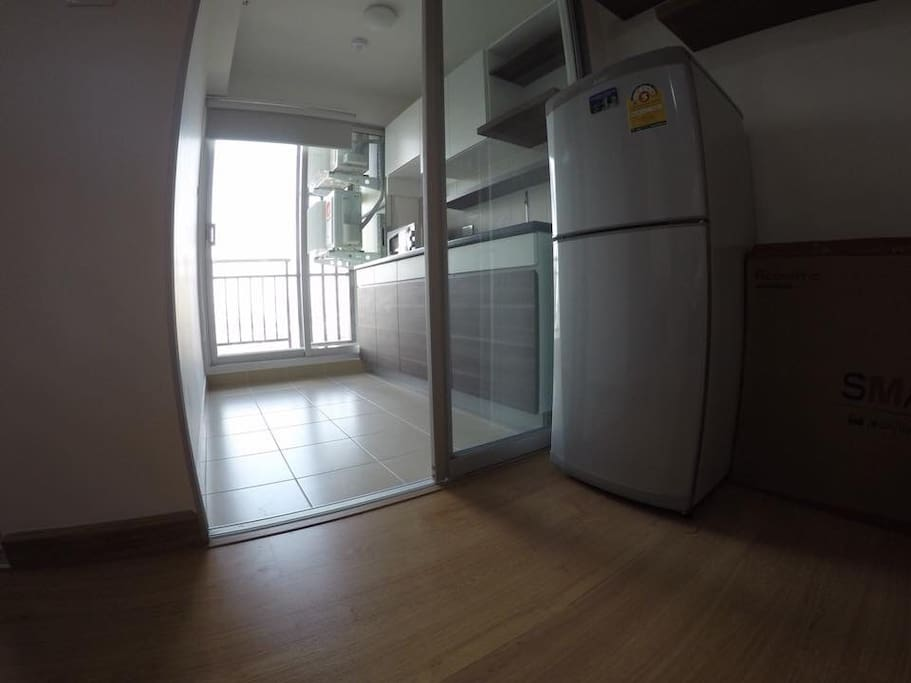 Refrigerator and kitchen