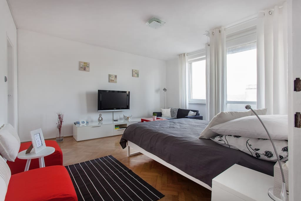 """""""The apartment is located in a quiet and green area of Ljubljana, it is easy to reach the city center and it's easy to find a parking for the car."""" - by Carlo"""