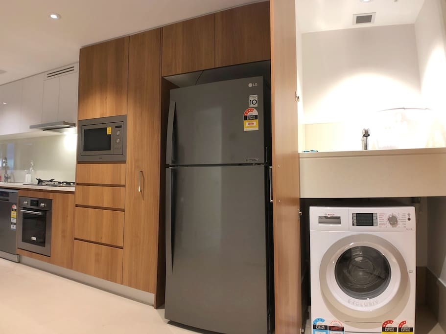 Kitchen & Laundry with Washing Machine and Dryer Combo