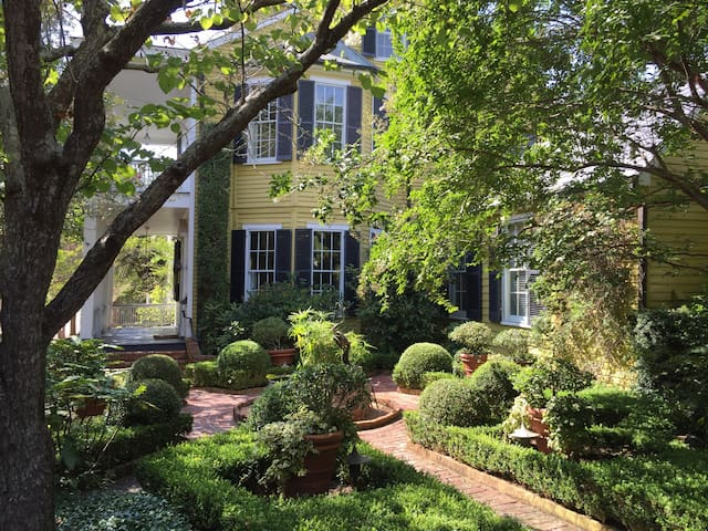 """""""One of the most beautiful gardens in Natchez."""" Traditional Home Magazine"""