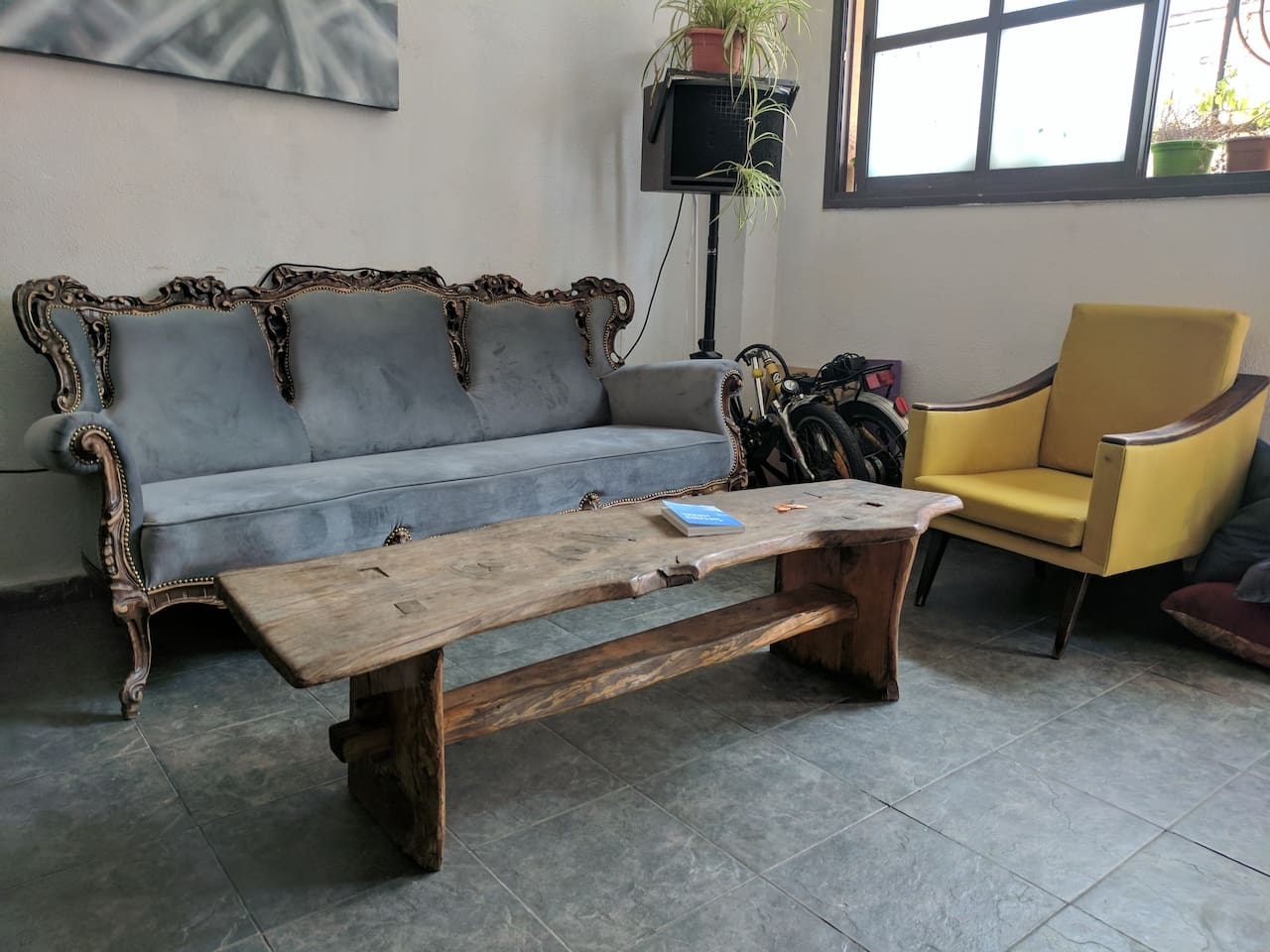 Lounge and the renovated sofa :)